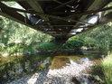 Svratka pod železničním mostem v Nedvědici.